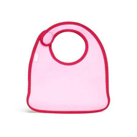 BUILT Mess Mate - 2 śliniaki dla dzieci (Baby Pink Mini Dots)