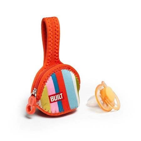 BUILT Paci-Finder - Pokrowiec na smoczek (Baby Pink Stripe)