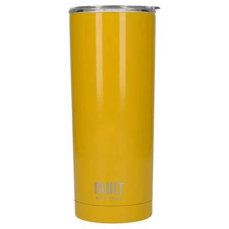 BUILT Vacuum Insulated Tumbler - Stalowy kubek termiczny z izolacją próżniową 600 ml (Yellow)