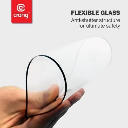 Crong 7D Nano Flexible Glass - Szkło hybrydowe 9H na cały ekran Samsung Galaxy M21