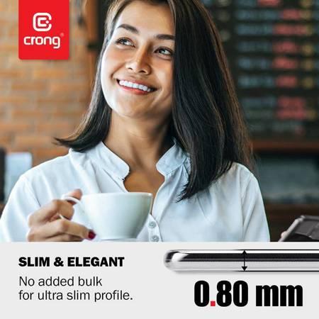 Crong Crystal Slim Cover - Etui Xiaomi Mi 10 (przezroczysty)