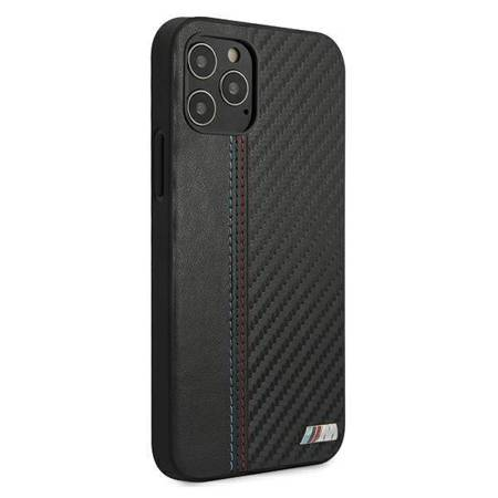 "Etui BMW BMHCP12MMCARBK iPhone 12/12 Pro 6,1"" czarny/black hardcase M Collection PU Carbon Stripe"