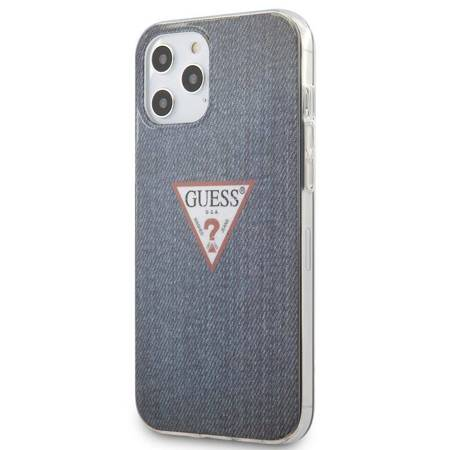 Guess Denim Triangle Dk - Etui iPhone 12 Pro Max (granatowy)