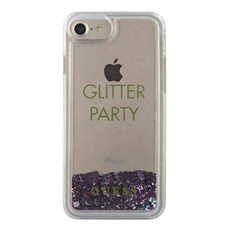 Guess GUHCP7GLUQPU iPhone 6/7/8 /SE 2020 fioletowy/purple hard case Liquid Glitter Party
