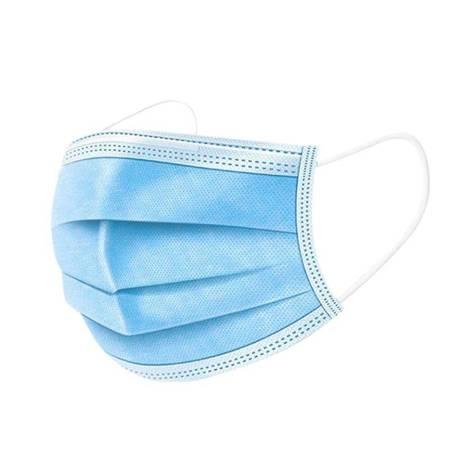 Hoco - Jednorazowa maseczka ochronna na twarz, 3 warstwy, 50 sztuk (Niebieski/Biały)