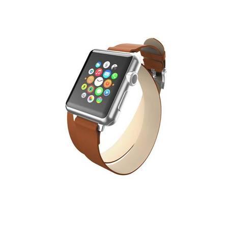 Incipio Reese Double Wrap - Skórzany pasek do Apple Watch 38mm (tan)