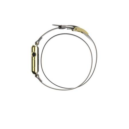 Incipio Reese Double Wrap - Skórzany pasek do Apple Watch 38mm (taupe)