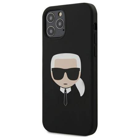 Karl Lagerfeld Silicone Ikonik Karl`s Head - Etui iPhone 12 / iPhone 12 Pro (czarny)