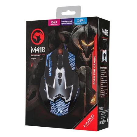 Marvo M418 - Mysz optyczna 2400 DPI (czarny)