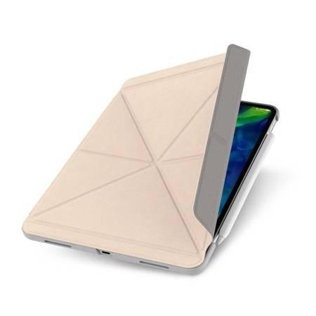 Moshi VersaCover - Etui origami iPad Pro 11 (2020/2018) z ładowaniem Apple Pencil (Savanna Beige)