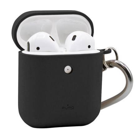 PURO Green Compostable Eco-friendly Cover – Ekologiczne etui Apple AirPods 1&2 (czarny)
