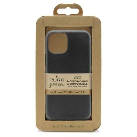 PURO Green Compostable Eco-friendly Cover - Ekologiczne etui iPhone 12 / iPhone 12 Pro (czarny)