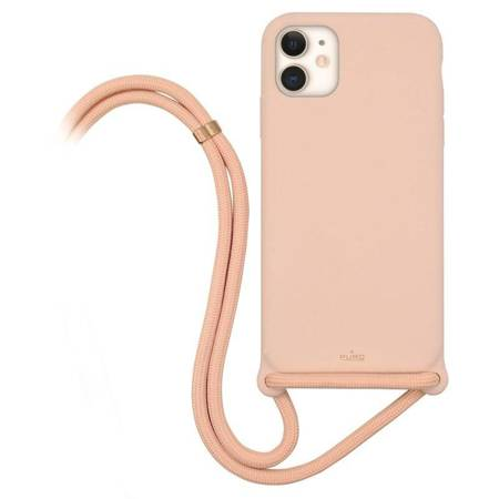 PURO ICON Cross Body - Etui iPhone 11 (Piaskowy róż)