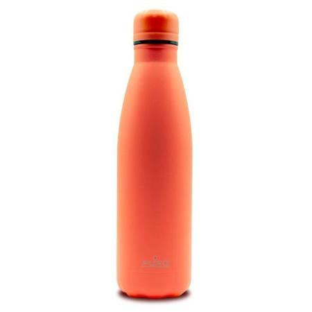 PURO ICON Fluo - Butelka termiczna ze stali nierdzewnej 500 ml (Orange) (Powder Coating)