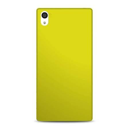 PURO Ultra Slim 0.3 Cover MFX - Zestaw etui + folia na ekran Sony Xperia Z5 (limonkowy)