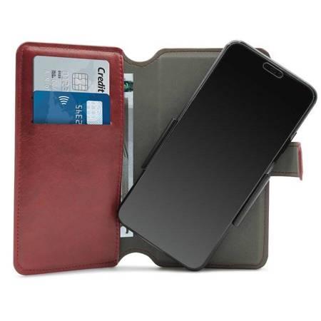 PURO Universal Wallet 360° - Uniwersalne etui obrotowe z kieszeniami na karty, rozmiar XL (czerwony)