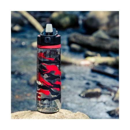 Quokka Quick Sip - Butelka bidon na wodę z systemem szybkiego otwierania 830 ml  (Camo)