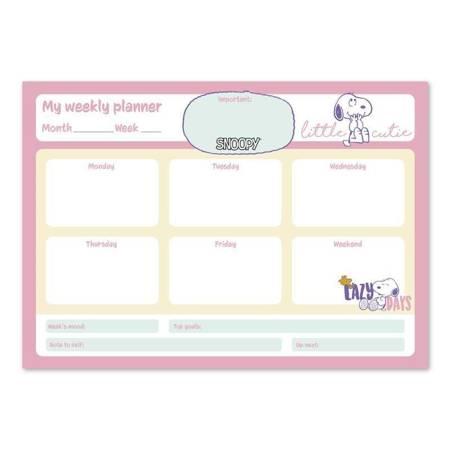 Snoopy - Planner tygodniowy A4