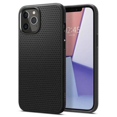 """Spigen Liquid Air iPhone 12/12 Pro 6,1"""" czarny/black matte ACS01701"""