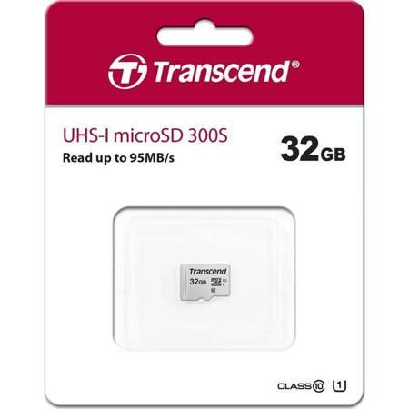 Transcend Memory microSDHC - Karta pamięci 32 GB Class 10 UHS-I U1 95/25 MB/s