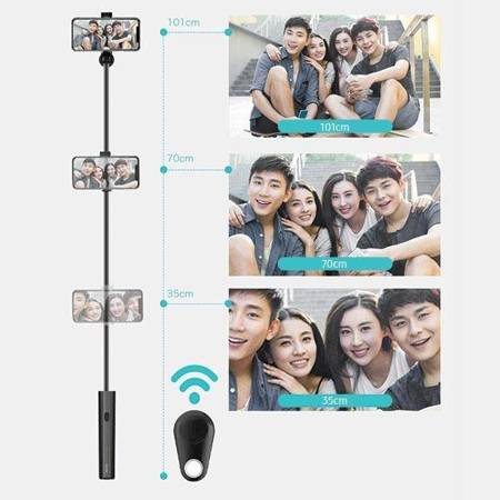 USAMS Selfie Stick Meyan Bluetooth czarny/black ZB6901 (US-ZB069)
