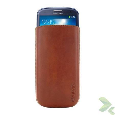 Valenta Pocket Classic - Skórzane etui wsuwka Samsung Galaxy S4/S III, HTC One i inne (brązowy)