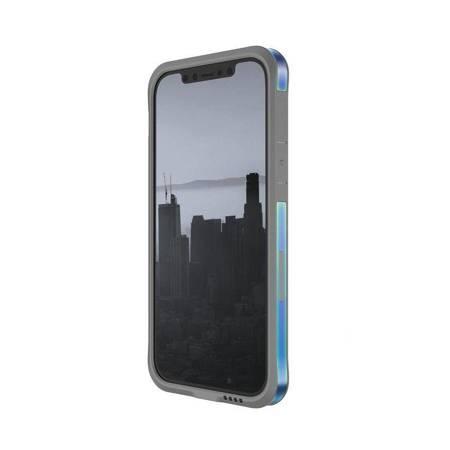X-Doria Raptic Edge - Etui aluminiowe iPhone 12 / iPhone 12 Pro (Drop test 3m) (Iridescent)
